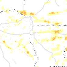 Regional Hail Map for Shreveport, LA - Friday, April 9, 2021