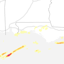 Regional Hail Map for Miramar Beach, FL - Saturday, April 10, 2021
