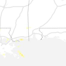Regional Hail Map for Mobile, AL - Wednesday, April 14, 2021