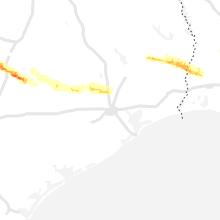 Regional Hail Map for Houston, TX - Thursday, April 15, 2021