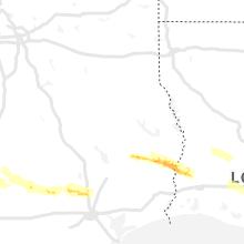 Hail Map for lufkin-tx 2021-04-15