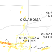 Regional Hail Map for Oklahoma City, OK - Friday, April 23, 2021