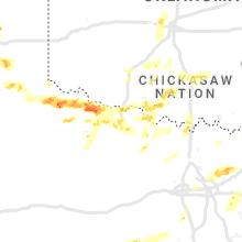 Regional Hail Map for Wichita Falls, TX - Friday, April 23, 2021