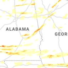 Regional Hail Map for Auburn, AL - Saturday, April 24, 2021