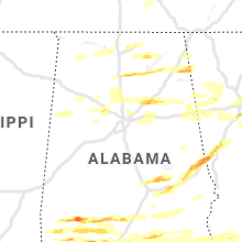 Regional Hail Map for Birmingham, AL - Saturday, April 24, 2021