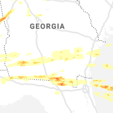 Regional Hail Map for Douglas, GA - Saturday, April 24, 2021