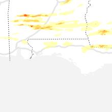 Regional Hail Map for Miramar Beach, FL - Saturday, April 24, 2021