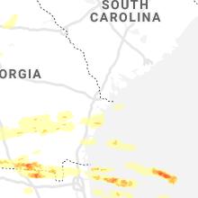 Regional Hail Map for Savannah, GA - Saturday, April 24, 2021