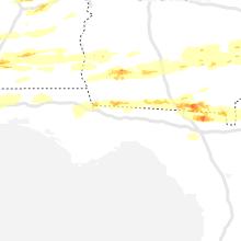 Regional Hail Map for Tallahassee, FL - Saturday, April 24, 2021