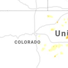 Regional Hail Map for Denver, CO - Tuesday, April 27, 2021