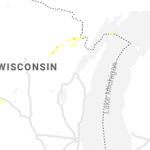 Regional Hail Map for Green Bay, WI - Tuesday, April 27, 2021