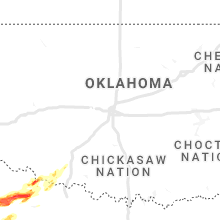 Regional Hail Map for Oklahoma City, OK - Tuesday, April 27, 2021