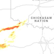 Regional Hail Map for Wichita Falls, TX - Tuesday, April 27, 2021