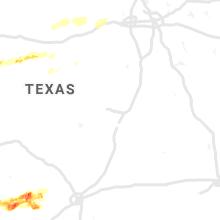 Regional Hail Map for Killeen, TX - Wednesday, April 28, 2021