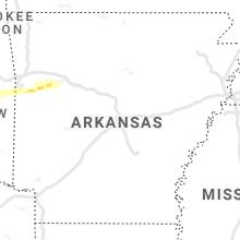 Hail Map for little-rock-ar 2021-04-28