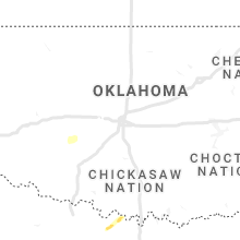 Regional Hail Map for Oklahoma City, OK - Wednesday, April 28, 2021