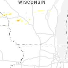 Regional Hail Map for Madison, WI - Sunday, May 2, 2021
