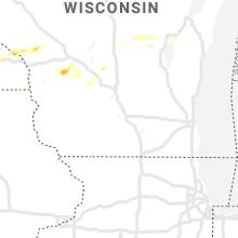 Regional Hail Map for Madison, WI - Sunday, May 2, 2021