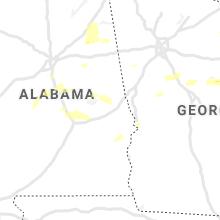 Regional Hail Map for Auburn, AL - Monday, May 3, 2021