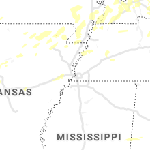 Regional Hail Map for Memphis, TN - Monday, May 3, 2021