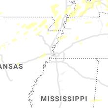 Regional Hail Map for Memphis, TN - Monday, May 3, 2021