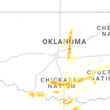 Regional Hail Map for Oklahoma City, OK - Monday, May 3, 2021