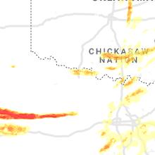 Regional Hail Map for Wichita Falls, TX - Monday, May 3, 2021