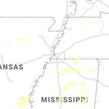 Regional Hail Map for Memphis, TN - Tuesday, May 4, 2021