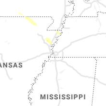 Regional Hail Map for Memphis, TN - Thursday, May 6, 2021