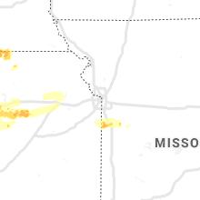 Regional Hail Map for Kansas City, MO - Saturday, May 8, 2021