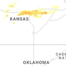 Regional Hail Map for Wichita, KS - Saturday, May 8, 2021