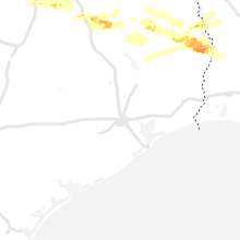 Regional Hail Map for Houston, TX - Sunday, May 9, 2021