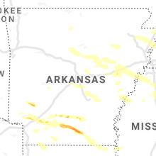 Hail Map for little-rock-ar 2021-05-09