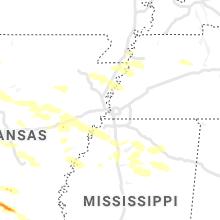 Regional Hail Map for Memphis, TN - Sunday, May 9, 2021