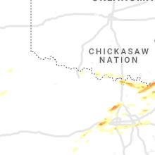 Regional Hail Map for Wichita Falls, TX - Monday, May 10, 2021