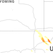Regional Hail Map for Laramie, WY - Friday, May 14, 2021