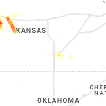 Regional Hail Map for Wichita, KS - Friday, May 14, 2021