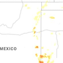 Regional Hail Map for Tucumcari, NM - Saturday, May 15, 2021