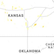 Regional Hail Map for Wichita, KS - Saturday, May 15, 2021