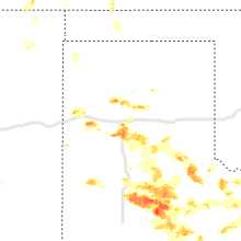 Regional Hail Map for Amarillo, TX - Sunday, May 16, 2021