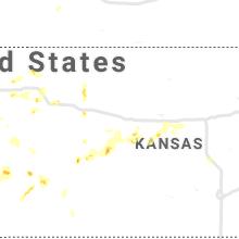 Regional Hail Map for Hays, KS - Sunday, May 16, 2021