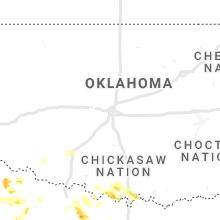 Regional Hail Map for Oklahoma City, OK - Sunday, May 16, 2021