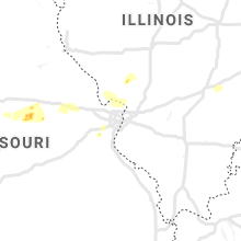 Regional Hail Map for Saint Louis, MO - Sunday, May 16, 2021