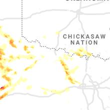 Regional Hail Map for Wichita Falls, TX - Sunday, May 16, 2021