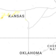 Regional Hail Map for Wichita, KS - Sunday, May 16, 2021