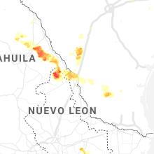 Regional Hail Map for Laredo, TX - Monday, May 17, 2021