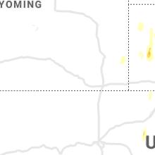 Regional Hail Map for Laramie, WY - Friday, May 21, 2021