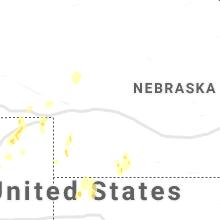 Regional Hail Map for North Platte, NE - Saturday, May 22, 2021