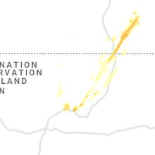 Regional Hail Map for Taos, NM - Saturday, May 22, 2021