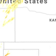Regional Hail Map for Garden City, KS - Sunday, May 23, 2021